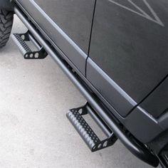 N-Fab rock sliders with removable steps Toyota Tacoma Access Cab, Toyota Tacoma Double Cab, Motorhome, Ram 1500 Quad Cab, Toyota Tundra Crewmax, Rock Sliders, Black Cab, Dodge Ram 2500, Jeep Wrangler Jk