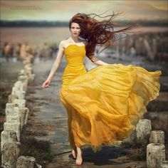 """the sun in the desert"" by Margarita Kareva --- fairytale like photos! High Fashion Photography, Portrait Photography, Photography Ideas, Flowing Dresses, Yellow Fashion, Fashion Poses, Jolie Photo, Shades Of Yellow, Mellow Yellow"