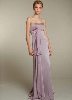 Lavender bridesmaid dress with blush undertones.