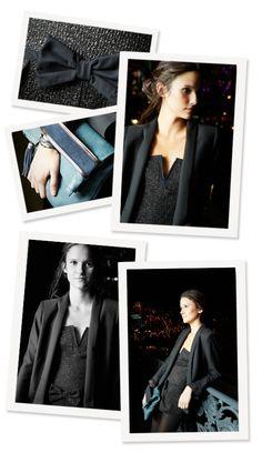 Margot for Comptoir des Cotonniers -   NECIBEL jacket, NAOUAL clutch bag