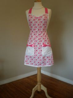 Hello Kitty apron by HauteMessThreads on Etsy, $36.00