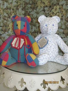 Remember someone special.  Memory Bears. My mother had one made with my fathers shirt.