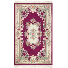 Imperial Wine (Red) 8 ft. x 11 ft. Area Rug
