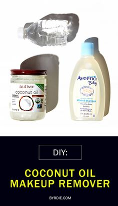 #DIY makeup remover: coconut oil, baby powder, and water (via @byrdiebeauty) // #Beauty #Tricks