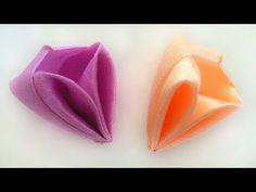 Новый лепесток канзаши Коробочка из атласных лент мастер класс. New Kanzashi petal box satin ribbons - YouTube
