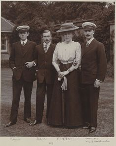 Princess Beatrice of the UK's children: Prince Maurice, Prince Leopold, Princess Victoria Eugenia (Ena) and Prince Alexander of Battenberg
