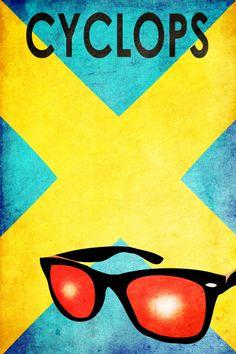 8 Wicked Minimalist X-Men Posters