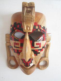 Mayan King Mask Inspired by Kinich Pacaal Janaab by FantasticAztec, $249.00