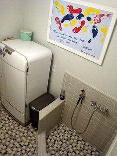 Add doggie shower in laundry room via Natalie & Graham ....genius