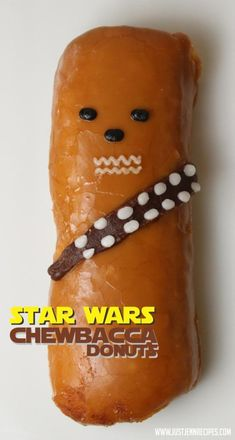 Chewbacca Donut for a Star Wars Birthday Party or a morning treat for a Star Wars fan.