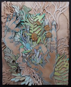 Paper cut and drawings by Jamie Spinello. This is an awesome piece of art and technique I would like to experiment with to creat something for my home.