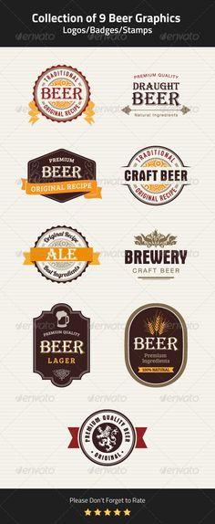 9 Beer Badges, Stamps and Seals Vector Template #design Download: http://graphicriver.net/item/9-beer-badges-stamps-and-seals/5359574?ref=ksioks