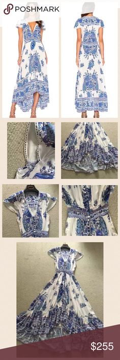 Spell hotel paradiso dress bluebird S/M NO LABEL NWT! Only have one per each size! Sell really fast, grab it if you got the $ in the bank ! :) price is firm.  *** please note, waist is elastic.  S: Front Length 110 back length146 chest 87waist 58   M: Front Length 111 Back length 147 Chest 91waist 62. L: Front length 112 back length 148 chest 95 waist 66 in CM. Label on the neckline was removed. Wash label remains. item will be sold as it is.  **100% Authentic Guaranteed or your money back…