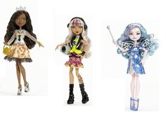 SOUND THE ALARMS! Meet the new signature dolls of Ever After High!Justine Dancer, Daughter of the twelfth dancing princess!Melody Piper, Daughter of the pied piper!Farrah Goodfairy, Daughter of the fairy godmother!