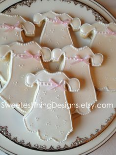 Christening Dress Cookies/ Baptism Favor/ by SweetestThingDesigns, $39.00