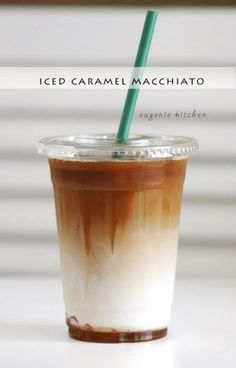"<p>Recipe here: <strong><a href=""http://eugeniekitchen.com/iced-caramel-macchiato/"" target=""_blank"">COPYCAT STARBUCKS ICED CARAMEL MACCHIATO</a></strong></p>"
