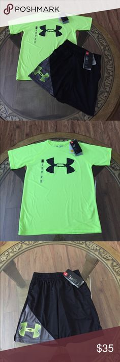UNDER ARMOUR (YXS) BOYS OUTFIT Brand New Under Armour Size:YXS Boys Outfit. Heatgear, Keeps you Cool, Dry and Light. With Pockets, Beautiful Color and Very Comfortable. Under Armour Shirts & Tops Tees - Short Sleeve