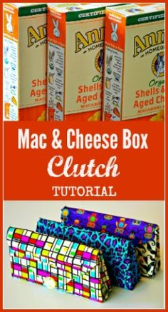 Duct Tape Clutches made from Mac & Cheese Boxes might work for a clutch for a wedding with white tape