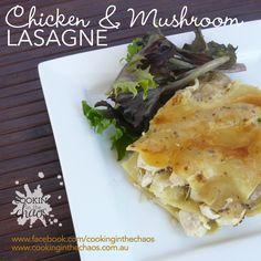 Chicken & Mushroom Lasagne - Thermomix Recipe