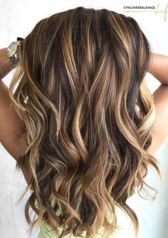 12 Gorgeous Caramel Hair Color Ideas You Need to Try Impressive Long Brown Hair With Caramel Highlights This image has. Brown Hair With Blonde Highlights, Brown Ombre Hair, Brown Hair Balayage, Long Brown Hair, Light Brown Hair, Long Curly Hair, Long Hair Cuts, Curly Hair Styles, Balayage Highlights
