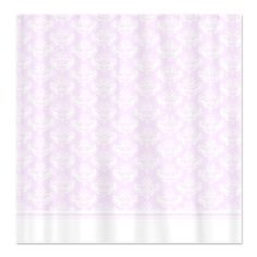 Pink Damask Shower Curtain