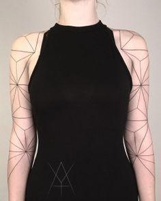 Minimal geometric sleeves by Y4shk4