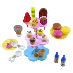 Now available online:  22pcs DIY Play De... Love it http://www.ejulaba.com/products/22pcs-diy-play-desserts-ice-cream-3-children-kids-baby-classic-toy-pretend-play-kitchen-food-sweet-treats-plastic-toy-no-box?utm_campaign=social_autopilot&utm_source=pin&utm_medium=pin