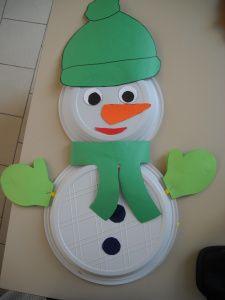 Muñeco de nieve con platos y goma eva - foamy snowman