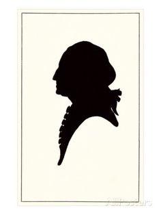 size: Art Print: Silhouette of George Washington Poster : Silhouette Tattoos, Silhouette Portrait, Washington Art, George Washington, Silouette Art, Vintage Silhouette, Sculpture, Vintage Postcards, Find Art