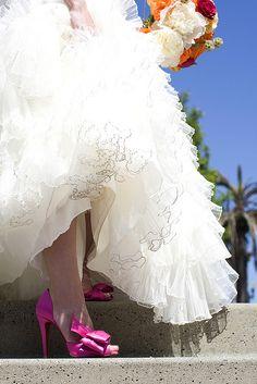 Fuchsia wedding shoes by stob3r1, via Flickr