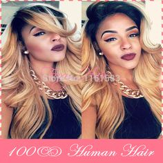 Find More Wigs Information about Super Wave Honey Blonde Ombre Lace Wigs For Black Woman High Density Unprocessed Brazilian Virgin Ombre Full Lace Human Hair Wig,High Quality wigs african american hair,China wig synthetic Suppliers, Cheap wigs for large heads from Foxy Hair-Wig on Aliexpress.com