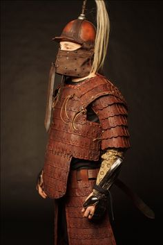 Mongol armor kit by SokolWorkshop; mongol, tatar, Helmet, armor, leatherarmor, leathercrafter, viking, leather, role-playing, LARP, Medieval, cosplay, roleplaying, warrior, cuirass, vambraces, Cuirass, TorsoArmour, Lamellar, PlatedArmour, Pauldrons, Vambraces, Belt, HeroHarness, leatherSkirt, ThighArmour, Greaves, WovenArmour Medieval Knight, Medieval Armor, Larp Armor, Helmet Armor, Chinese Weapons, Viking Costume, Pauldron, Leather Armor, Body Armor