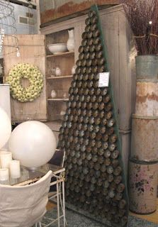 Clever non-tree Christmas tree ideas including this Tuna Can Tree.