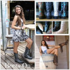 """Get your """"Boots On"""" for the RoDeO at GracieGene's!  Great selection of boots at affordable prices.  Randy Houser tonight!"""