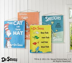Dr. Seuss™ Book Cover Canvas Art | Pottery Barn Kids - cute for playroom