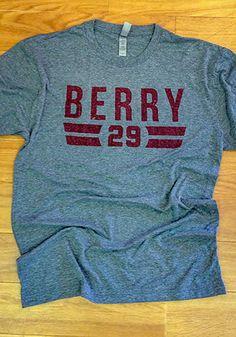8ade2f2579d Eric Berry Grey Font R Short Sleeve Fashion Player T Shirt - 5000003. Eric  BerryNfl Kansas City ChiefsGrey ...