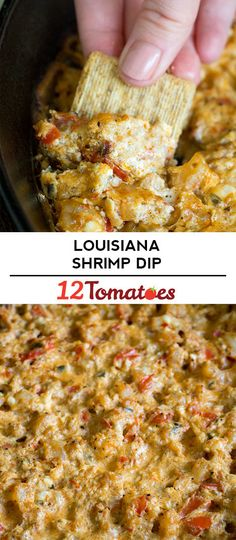 Hot Louisiana Shrimp Dip – This creamy dip with a kick is a fast favorite for everyone who tries it. Louisiana hot sauce + shrimp + some creamy goodness = one irresistible appetizer. Appetizer Dips, Yummy Appetizers, Appetizers For Party, Appetizer Recipes, Shrimp Appetizers, Finger Food Appetizers, Dip Recipes, Seafood Recipes, Cooking Recipes