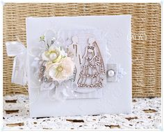 Scrap and Craft: Perfect Wedding Gift using products from www.scrapandcraft.co.uk #cards #crafts #wedding #flowers #chipboard.