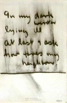 In my dark winter, 1971 - Colin McCahon Calligraphy Types, Venice Biennale, Dark Winter, Hand Type, Art Journaling, How To Draw Hands, Artists, Paint, This Or That Questions