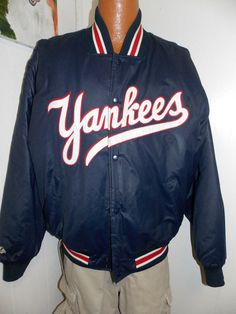 Majestic NY Yankees Satin Baseball Jacket | STYLE | Pinterest | Ny ...