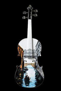 Venise, la dolce vita peinte sur un violon