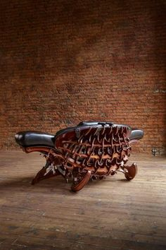 "steampunk furniture ""Diodon Solium"" back Art Nouveau Furniture, Studio Furniture, Cool Furniture, Modern Furniture, Furniture Design, Steampunk Interior, Steampunk Furniture, Steampunk Machines, Cigar Store Indian"