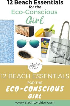 12 Beach Essentials For The Eco-Conscious Girl — A Jaunt With Joy. Make your summer beach vacation a little more environmentally friendly with this packing list of eco-conscious beach essentials! www.ajauntwithjoy.com Packing List For Travel, Travel Tips, Packing Tips, Surfing Tips, Beach Hacks, Diy Beauty, Beauty Tips, Beauty Products, Beach Gear