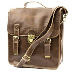 Girls Vintage Casual Leather Messenger Shoulder Bag Backpack Multi-function (Light Brown) $39.99