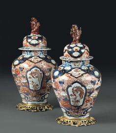 A pair of potiches in Imari Arita porcelain, Japan, 18th century - montati in bronzo, [...], Taste, Furniture and Residences, An Italian Collection (Genova) à Cambi Casa d'Aste | Auction.fr