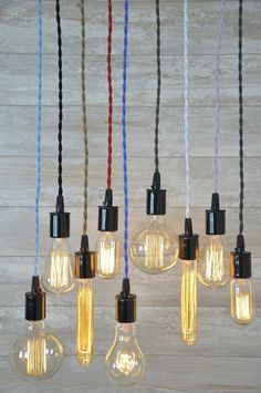 Cord Set With Bulb Socket 8 Foot Many Colors Ceiling Pendant Light Lamp Cord