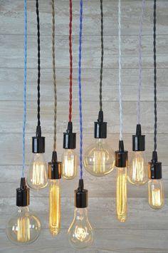 Kabel-Set mit Leuchtmittel Sockel 8 Fuß viele Farben von wiresNjars