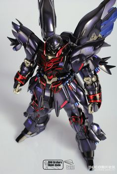 acricket86: GUNDAM GUY: MG1/100 MSN-06S Sinaju Ver.Ka - Customized Build