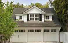 3 car garage - traditional - garage and shed - philadelphia - Lasley Brahaney Architecture + Construction .am wondering if the top of this garage could make a small home.with 3 garages my other half would approve. Design Garage, Design Exterior, Shed Design, House Design, Wall Design, Door Design, Above Garage Apartment, Garage Apartment Plans, Garage Apartments