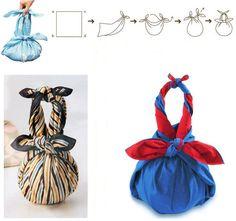 PUNTXET: Como hacer un bolso de mano furoshiki #furoshiki #handmade #DIY #tip